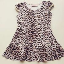 Vestido Infantil Pituchinhus Animal Print