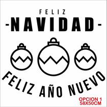 Vinilo Decorativo Navideño - Fiestas - Plotter - Navidad