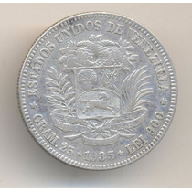 Moneda Venezuela 5 Bolivares 1935 De Plata Muy Buen Estado