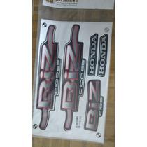 Jogo Faixas Adesivos Honda C100 Biz 2002 Es Preta