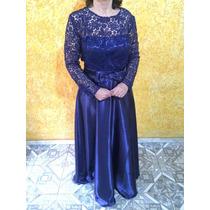 Vestido Longo De Festa Para Madrinha Azul Royal Guipir