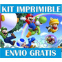 Kit Imprimible Mario Bros Llevás 2 Kits Paga 1+ Regalos