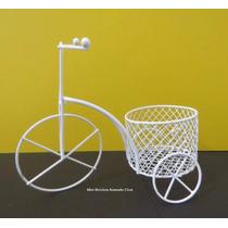22 Mini Bicicleta Aramada Branca15cm