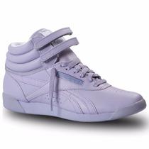 Zapatillas Reebok Classics Freestyle Hi Lila