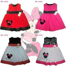 Vestidos De Niña Iancarol Con Motivo Bordado Minnie