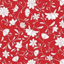 Papel Muresco Galia Rojo Blanco Flores Lavable 464