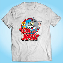 Camisa Tom E Jerry Desenho Aminado Tv Anos 90 Personalizada
