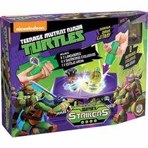 Brinquedo Spin Strikers Estojo Arena Tartarugas Ninja - Dtc