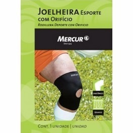 fb634258a Joelheira Esporte Com Orifício Mercur  tam. g Ref