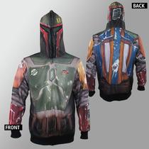 Star Wars Boba Fett Sudadera Sublimada Mandalorian Disfraz