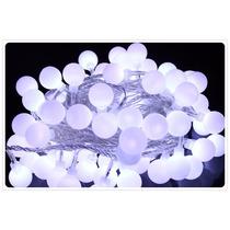 Pisca-pisca Com 40 Bolinhas De Led Luz Branca Fio Branco