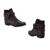 Bota Corta Casual Pink By Price Mod Cc0697 Color Negro