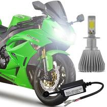 Lampada Baixo + Alto Bi Xenon Super Led Farol Moto H4 Cg 150