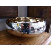 Vaso Cachepot Vidro Espelhado Centro De Mesa Dourado