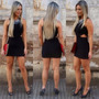 Vestido Feminino Curto Coladinho Detalhe Lateral Sexy