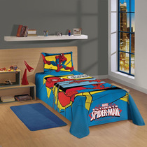 Colcha Simples Solteiro Estampada Spider-man Ultimate Lepper