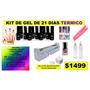 Kit Gel Termico 21 Dias Con Lampara Cambian De Color!!!
