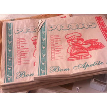Envelope Saco De Papel Para Caxa De Pizza 50 Unidades 35 Cm