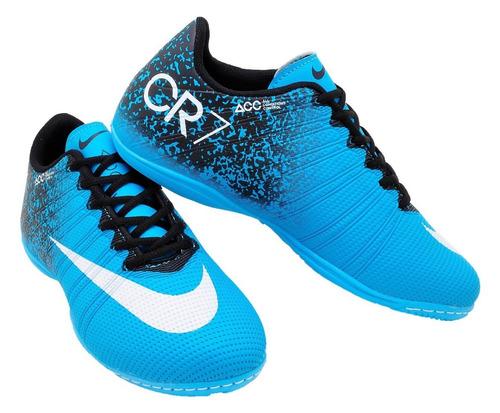 399ff1f114 Chuteira Cr7 Quadra Lisa Cano Baixo Infantil 26 33 Futsal - R  54