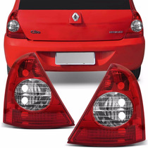 Lanterna Traseira Renault Clio Hatch 2003 A 2010 Bicolor