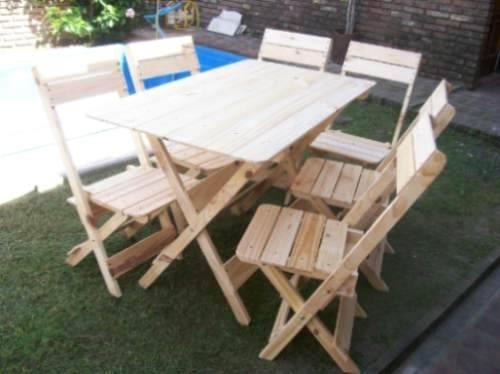 Mesas plegables de madera de 8 puestos para ni os fabricamos bs 131 62 en mercado libre - Mesas madera ninos ...
