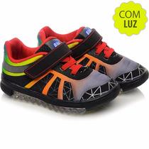 Bibi Tênis Infantil Roller Light 842002 Com Luz E Velcro
