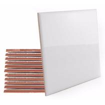 Azulejo Resinado Para Sublimação Branco Brilho 10x10 10 Un