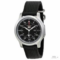 Relógio Automático Seiko 5 Preto Militar Com 2 Pulseiras!