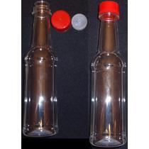 Kit 50 Garrafas Pet 150ml Rosca /tampa Vermelha E Batoque