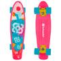 Skate Mini Cruiser Bob Burnquist Rosa Es092 Multilaser