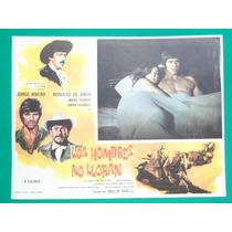 Jorge Rivero Los Hombres No Lloran Mario Almada Cartel Cine