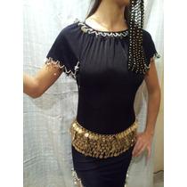 Traje De Odalisca De Danza Árabe. Importado Egipto. Vestido