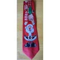 Corbata Roja Navidad, Santa Claus Con Regalos! Corb37
