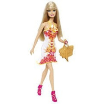 Barbie Tropical Playera Vestido Estampado Muñeca Mattel