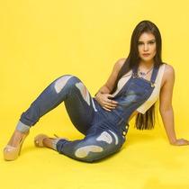 Macacão Macaquinho Jeans Feminino Roupa Feminina