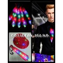 Corbatas Cotillón Luminoso Disfraz Fiesta Led Pack 12.
