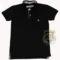 Camisa Polo Masculina Preta 6153 - Jaum Jaum