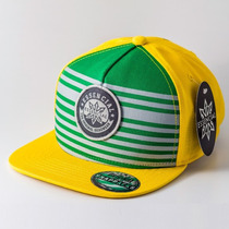 Boné Aba Reta Snapback Essencial Element Verde/amarelo