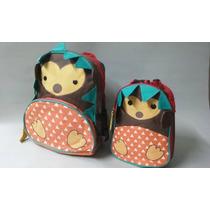 Kit Conjunto Mochila Infantil + Lancheira Tipo Skip Hop Zoo