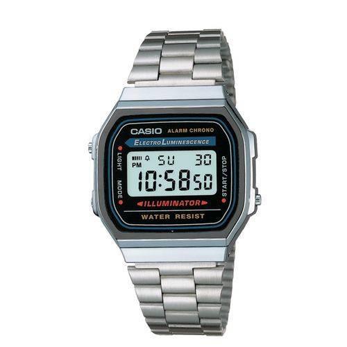 526c271026c33 Relógio Feminino Casio Vintage Digital Fashion A168wa-1wdf - R  183 ...