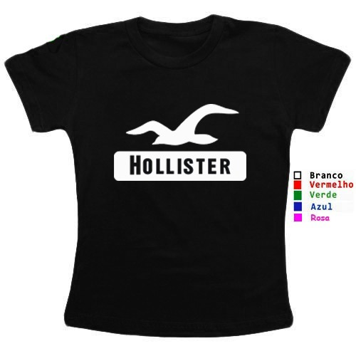 9f369648fc Camisa Camiseta Feminina Hollister California Surf Co - R  37