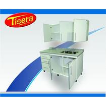 Combo Bajo Mesada Alacena Cocina Aluminio 140 Fabrica Stock