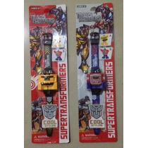 Reloj Transformers Optimus Prime Y Bumblebee De Niños