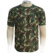 Blusa Camisa Camiseta Camuflada Exército Gola Redonda