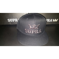 Gorra Supra Black With Charcoal Edición Especial Nueva Og