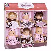 Kit C/ 6 Bonecas Dolls Collection No Display - Cotiplás