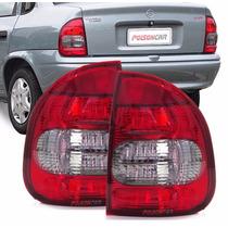 Par Lanterna Traseira Corsa Sedan 2000 2001 2002 Acrilica