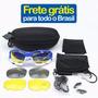 Combo Capacete + Óculos P/ Ciclismo Mtb Bike Corrida Ref.163