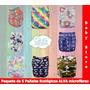 Paquete 5 Pañales Alva Microfibra Ecologico Lavabl Babystore