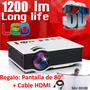 Video Beam Mini Proyector 3d Gratis Telon Cable Hdmi Y Envio